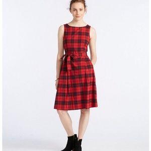 LL Bean Signature Flannel Dress, Plaid, 12